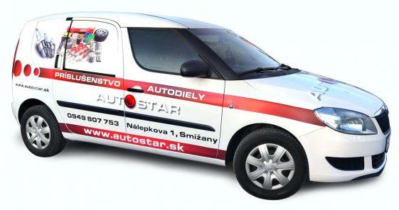 Mondo - reklamná agentúra - polep auta Autostar