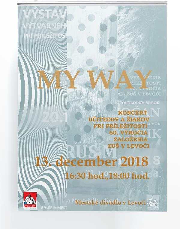 Mondo - reklamná agentúra - plagat My way